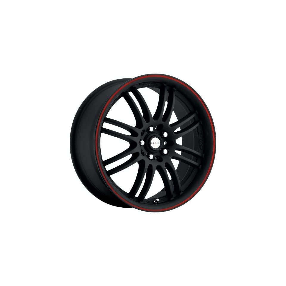 Focal Type 163 F16 FWD Matte Black Wheel with Red Stripe (18x8/5x100mm)
