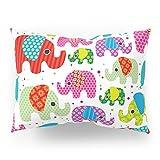Society6 Colorful India Elephant Kids Illustration Pattern Pillow Sham Standard (20'' x 26'') Set of 2