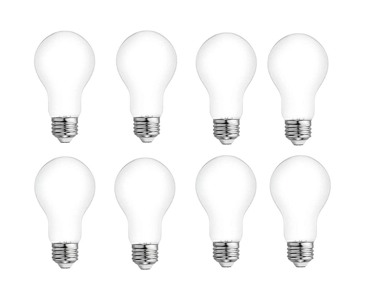 8-Pack GE Refresh 60-Watt EQ A19 Daylight Dimmable LED Light Bulb