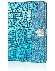 XFDSFDL® Etui ochronne do Apple iPad Pro 11 (2020) (11 cali) etui z klapką ze skóry PU diamentowe brokatowe wzornictwo z wbudowaną podstawką magnetyczne zamknięcie kabura portfel urządzenie etui, niebieski