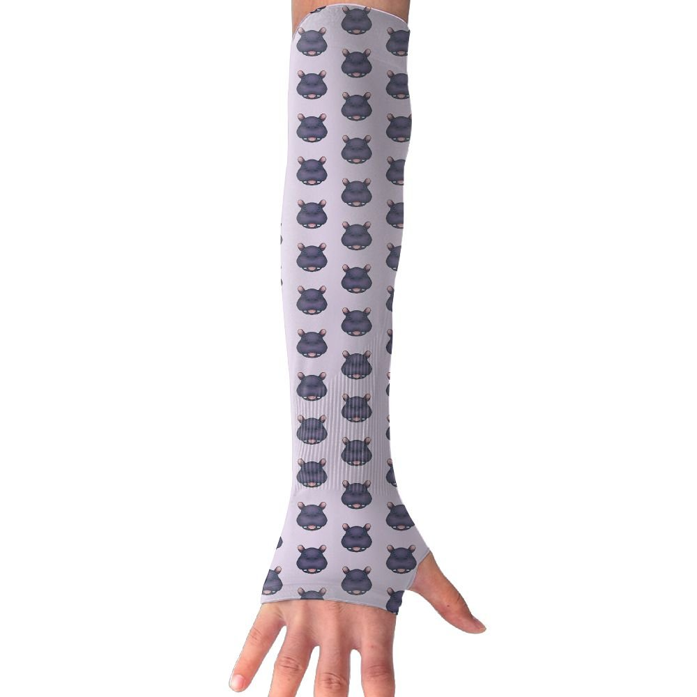 Unisex Hippo Head Sunscreen Outdoor Travel Arm Warmer Long Sleeves Glove