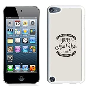 NEW Unique Custom Designed iPod Touch 5 Phone Case With Happy New Year 2015 Peace Love Joy Vintage_White Phone Case