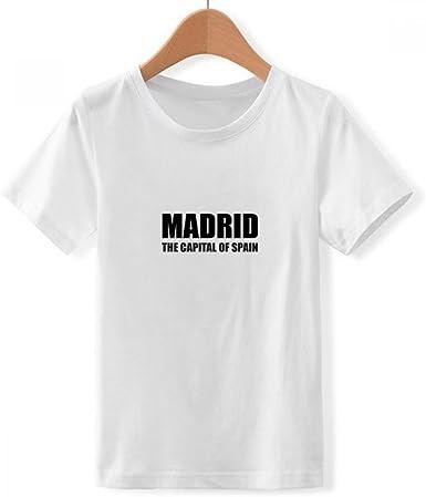 DIYthinker Madrid, la Capital de españa Cuello Redondo Camiseta para Chico: Amazon.es: Ropa y accesorios