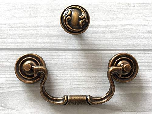 Vintage Black Dresser Handle Drawer Knob Pull Drop Ring Pulls Handles  Towel Hanger Towel Holder WM954