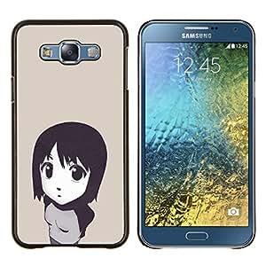 BearCase / Cubierta de protección Caso duro de la contraportada de Shell Plástico /// Samsung Galaxy E7 E700 /// Muchacha de la historieta japonesa linda