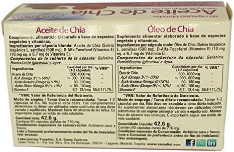 Zentrum Aceite de Chía - 60 Cápsulas: Amazon.es: Salud y cuidado ...