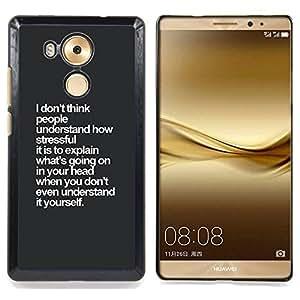 - grey white inspiring insight thought - - Modelo de la piel protectora de la cubierta del caso FOR Huawei Mate 8 RetroCandy