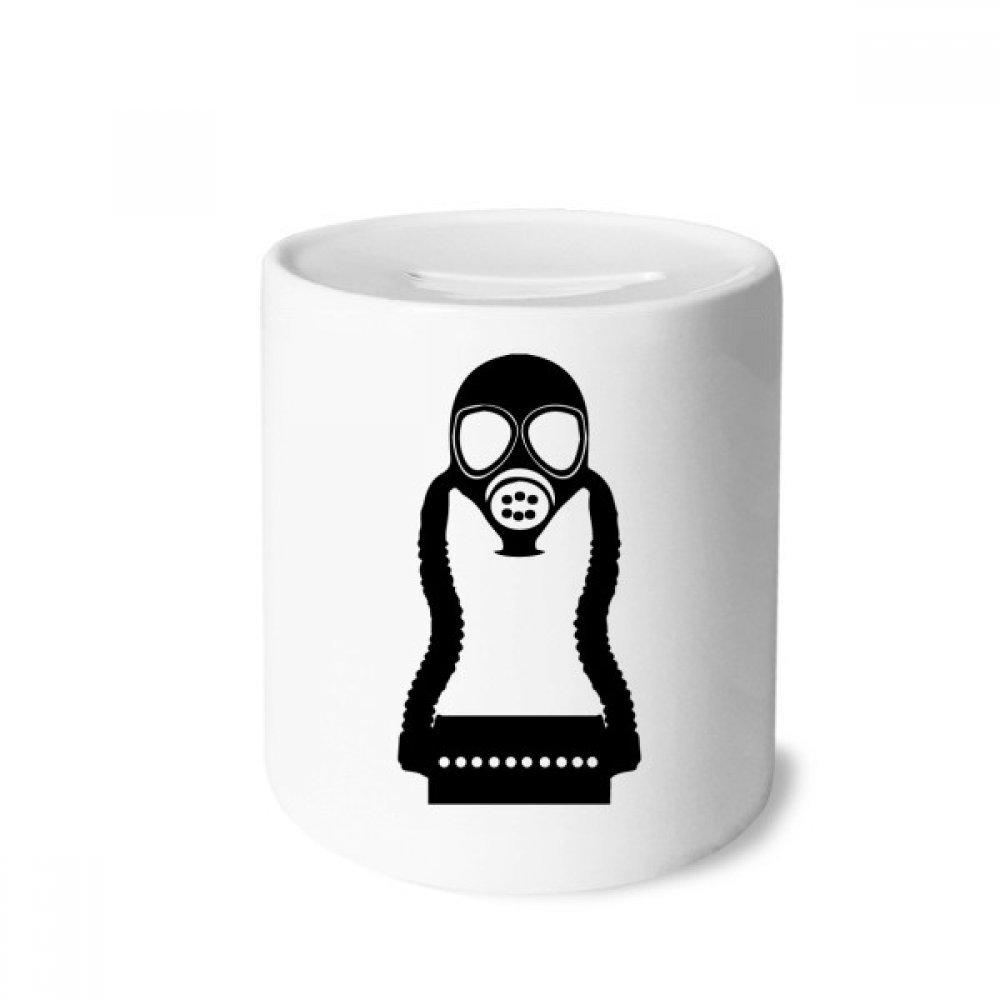 DIYthinker Contaminación Gas Pequeña máscara Counter Strike Caja de Dinero de Las Cajas de ahorros de cerámica Adultos Moneda de la Caja para niños: ...