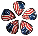 Rick Rock RGP1-1 Guitar Picks, USA Flag