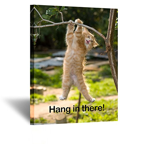Kreative Arts Kitten Hang in There Cat Wall Poster