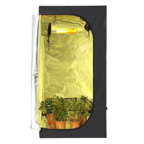 Idaodan 32 x32 x63 reflective 600d mylar hydroponic grow for Indoor gardening reflective material