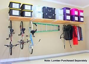 "DIY Rhino Shelf Garage Shelves (16 Foot Length, 33.5"" Deep) - Commercial Grade, Structural Kits for Handymen"