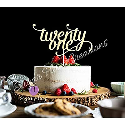 Twenty One Cake Topper: Arts, Crafts & Sewing