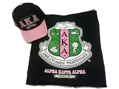Alpha Kappa Alpha Sorority T-Shirt and Cap Bundle - (2 Items) - Gamma Travel Mug