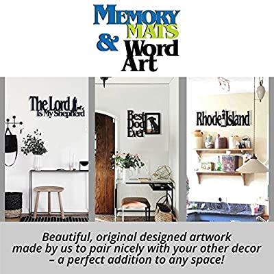 Memory Mats & Word Art US States Decorative Wall Signs, Vacation & Destination Geographic Graphic Plaque
