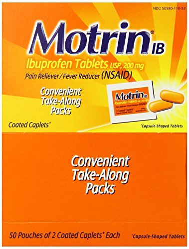 (Motrin IB Ibuprofen Pain Reliever, Coated Caplets, 50 Count by Motrin )