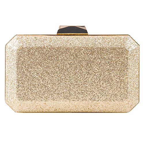 - Purses Handbags Gold Crossbody Clutch Evening Bag for Women Formal Classic Clutch Purse (Gold)