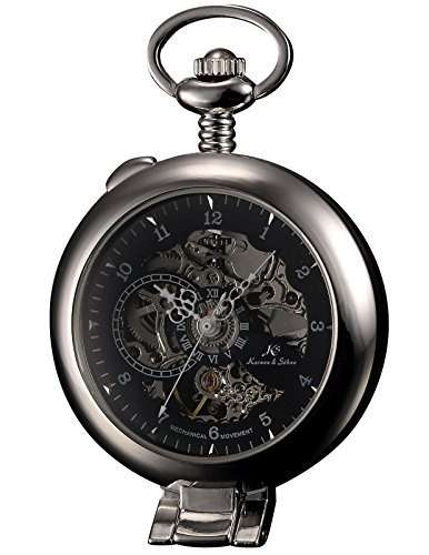 KS KSP063 Hunter Mechanical Pocket Watch product image