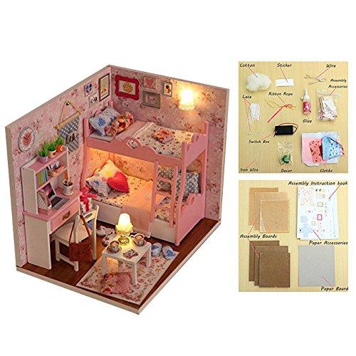 Txyk casa delle bambole in legno fai da te, kit in miniatura per ragazze, casetta delle fiabe, casa decorativa, regalo di Natale (lingua italiana non garantita)