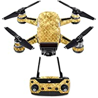 Skin for DJI Spark Mini Drone Combo - Gold Tiles| MightySkins Protective, Durable, and Unique Vinyl Decal wrap cover | Easy To Apply, Remove, and Change Styles | Made in the USA