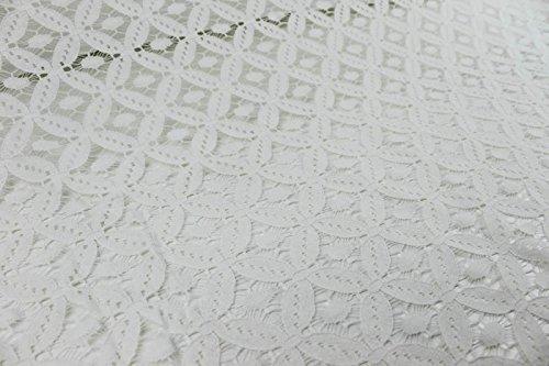 Off White Leila Diamond Pattern Lace Fabric
