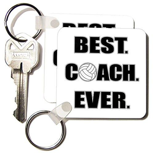 kc_195231_1 Janna Salak Designs Sports - Volleyball - Best. Coach. Ever. - Key Chains - set of 2 Key Chains