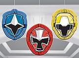 amscan Power Rangers Ninja Steel Honeycomb Decorations, Party Favor