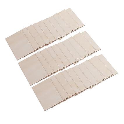 Homyl Vente En Gros 30 Pieces Vierges De Planches En Contreplaque