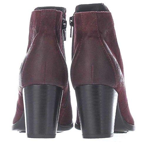 Geboren Dames Alter Lederen Amandel Teen Enkel Mode Laarzen Bordeaux