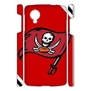 Black and White Chevron Tampa Bay Buccaneers Large Logo Google Nexus 5 3D Case Cover Shell (Laser Technology)