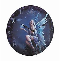 Zeckos Stargazer by Anne Stakes Printed Fairy Decorative Wall Clock
