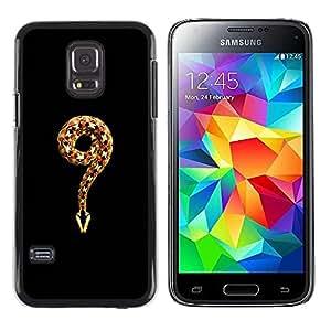 Paccase / SLIM PC / Aliminium Casa Carcasa Funda Case Cover para - meaning evil religion Adam eve god snake - Samsung Galaxy S5 Mini, SM-G800, NOT S5 REGULAR!