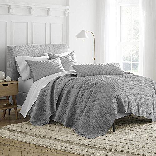 (Under the Canopy Organic Quilt, Twin, Grey)
