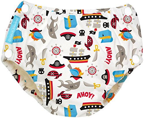 Price comparison product image Charlie Banana Reusable Easy Snaps Swim Diaper Medium - Pirate