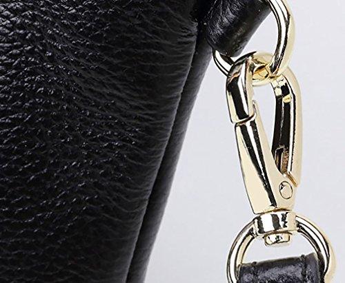 Mode main cuir Noir Purse bandoulière Portefeuilles femmes à pour en Clutch Sac à Petit les Femmes Bleu bracelet Téléphone sac qxfFwEPPI