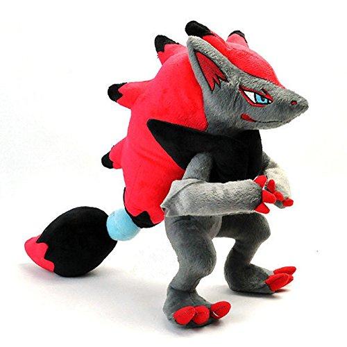33CM Pikachu Zoroark Soft Zoroark Plush Toys Dolls Stuffed Animal Japanese Cartoon Movie Brinquedos For Kids -