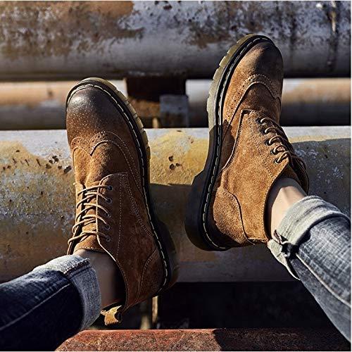 FMWLST Stiefel Herren Pu Stiefel Winter Winter Winter Stiefeletten Style Lace Hohe Warme Stiefel 9d4a18