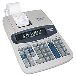 Victor 1560-6 Two-Color Ribbon Printing Calculator, Black/Red Print