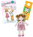Maison Chic Tooth Fairy Plush Pillow w/ Tooth Fairy Book Set (Tooth Fairy Doll Fancy Nancy)