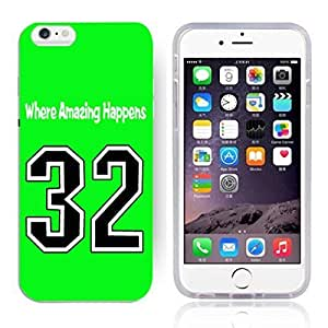 GXFC Case Unique Design Basketball Sportsman Uniform Where Amazing Happens 32 Pattern HD Durable Hard Plastic Case Cover for iphone 6(4.7 Inch)