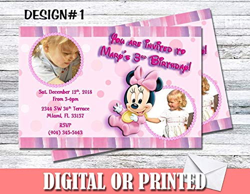 Baby Minnie Mouse Personalized Birthday Invitations More Designs -