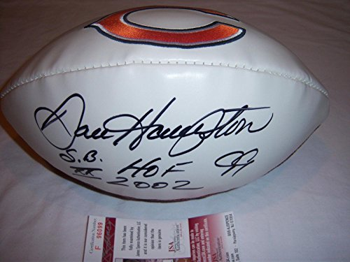 Autographed Dan Hampton Football - hof coa - JSA Certified - Autographed Footballs