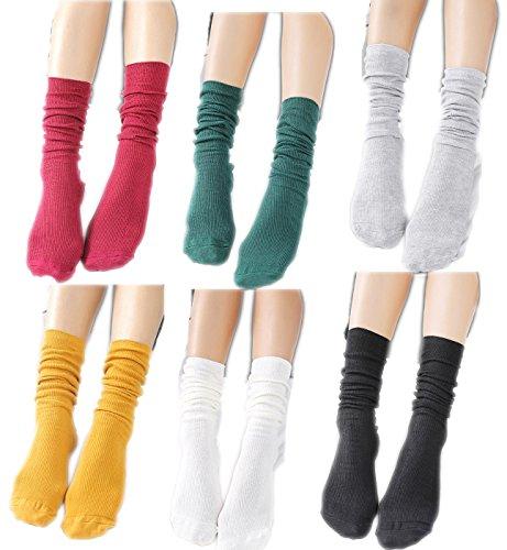 New 6Pack Women's Multi Performance Socks Year Round Lightweight Slouch Socks free shipping