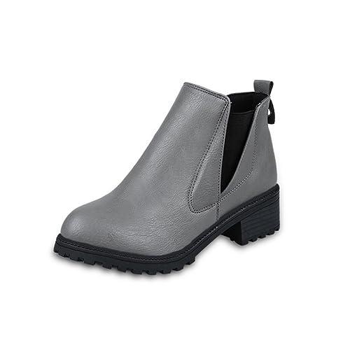 Zapatos de mujer Botas de mujer Botas cortas de mujer Botines Mujer Martín Zapatos Moda Vendimia