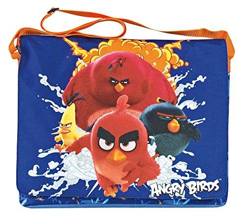 Angry Birds 13620 Borsa Piatta con Patella Frontale, Poliestere, Blu
