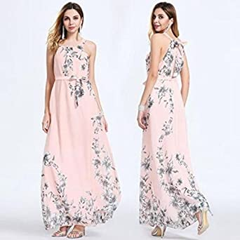 edc5af5866ea Womens Maxi Boho Floral Summer Beach Long Skirt Evening Cocktail Party  Dress NEW (6)