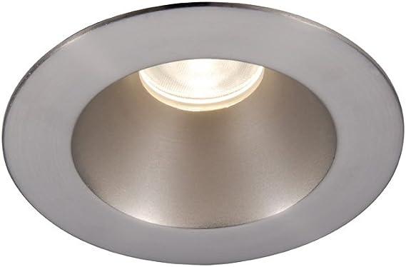 28-Degree Beam Angle Warm 3-Inch WAC Lighting HR-3LED-T218N-W-BN 3000K Tesla LED Shower Round Trim
