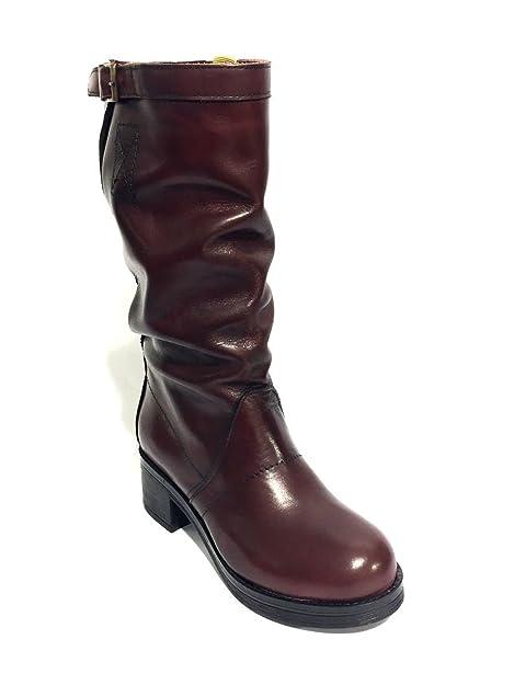ZETA SHOES Boots jn2158/973en cuir Chelsea Boots Beatles mainapps - Noir - noir, 41 EU