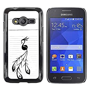 Paccase / SLIM PC / Aliminium Casa Carcasa Funda Case Cover - Bird Lines Ink Tattoo Art Painting - Samsung Galaxy Ace 4 G313 SM-G313F