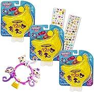 WowWee Fingerlings Monkey Bundle - 6 Pack Bulk Fingerlings Mini Playset Blind Bag with Mini Puffy Stickers for